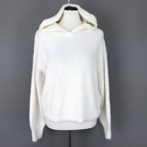 Lou & Grey Pullover Fuzzy Hoodie Sweater #2138